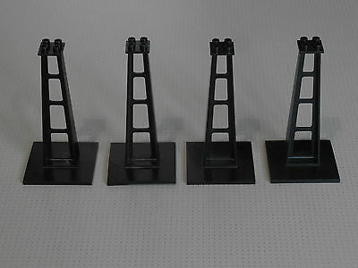 LEGO White Support 2 x 4 x 5 Stanchion Inclined PACK OF 6 train track castle