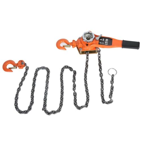3 Meters 0.75t Chain Puller Block Fall Chain Lift Hoist Hand Tools Chain W// Hook
