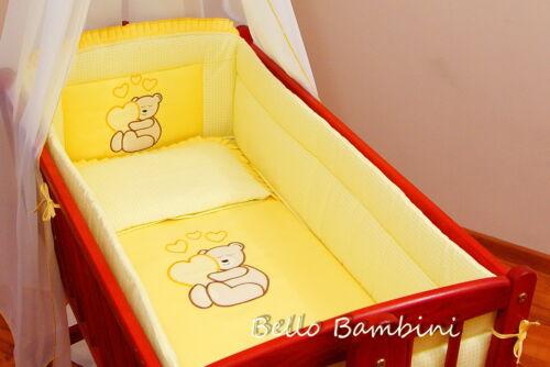 7 pcs bedding set //Bumper//sheet//duvet// to fit baby Swinging Crib 100/% COTTON