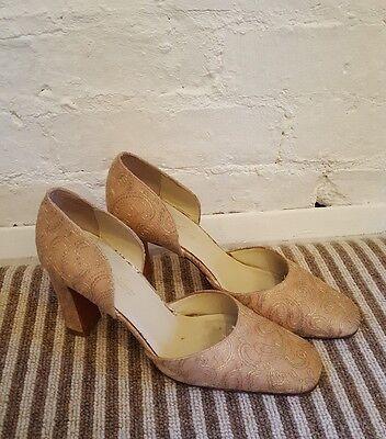 Zapatos de boda traje de novia oro/por Gabriella lucido. a Mano Teñido & Seda, Talla 5.5 (38.5)