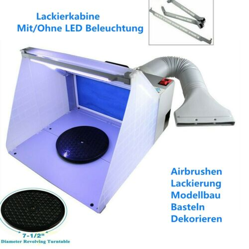 Airbrush Lackierkabine Schlauch Abluftventilator Sprühkabine Absauganlage Kit