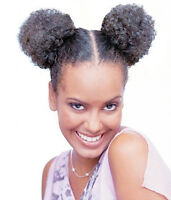 Femi Collection Afro Puff 2 Little Puff Dome 100% Kanekalon Flame Restardant