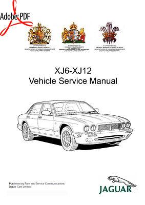 PARTS MANUALS WIRING 1994-1997 JAGUAR XJ6 XJ12 XJR WORKSHOP MANUAL PLUS ELEC