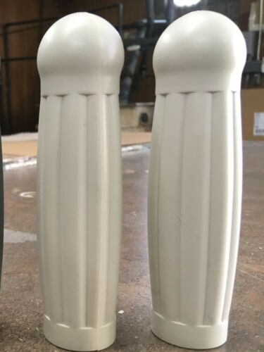 """rat rods Ball End Bike Grips for cruisers fixies NEW 7//8/"""" bars COLONIAL WHITE"""