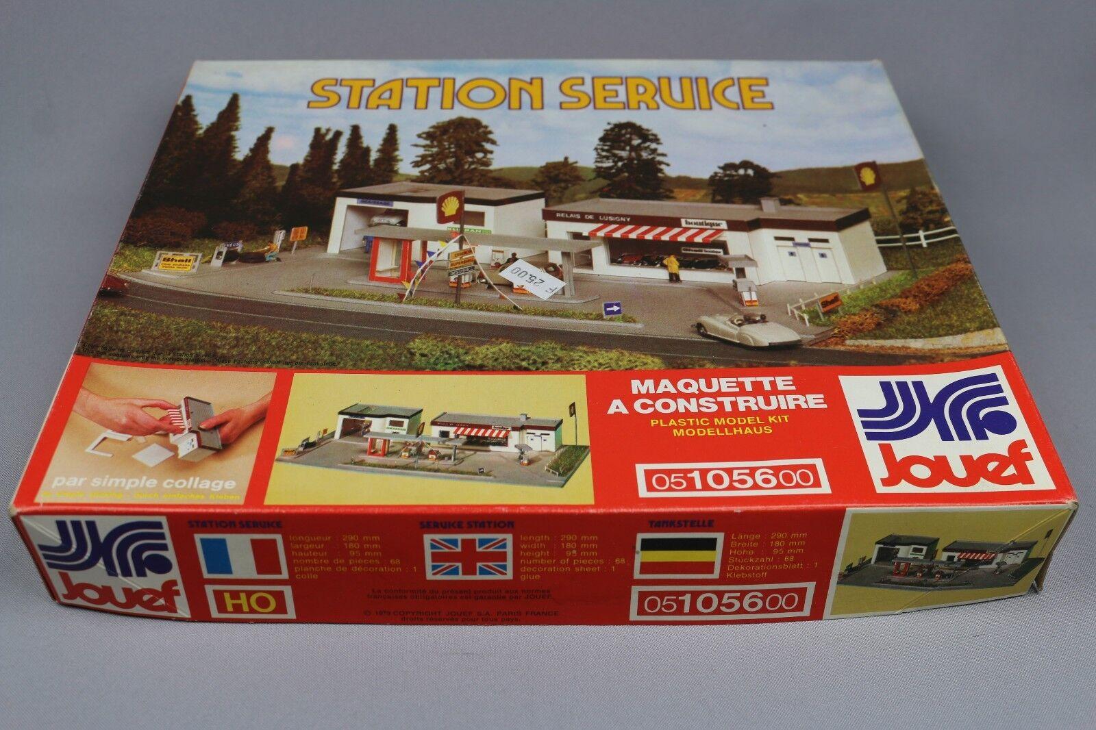 Z219 Jouef 1056 maquette train Ho 1 87 station service garage essence shell