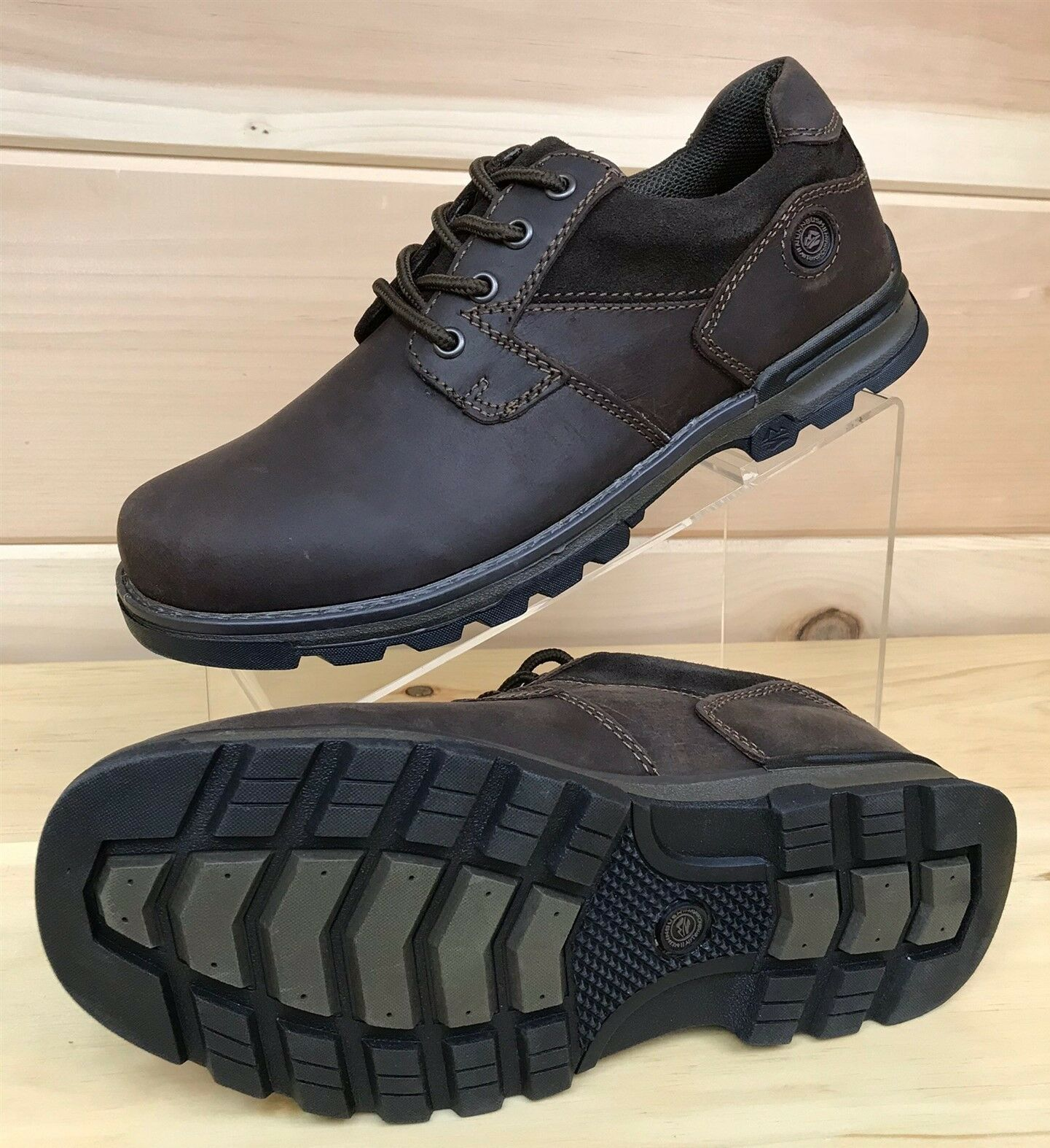 Nunn Bush Size 8 M Phillips Oxford Brown Pelle Work Shoe 84671-200