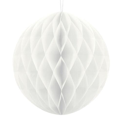 Wabenball 30 cm 1 Stk Weiß Dekoration Raumdekoration Hochzeit Lampion