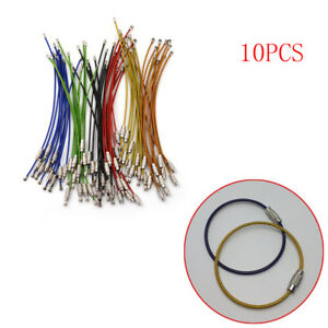 10PCS Stainless Steel Aircraft Cable Wire Key Chain Ring Twist Screw ... 4b9ecfb1c