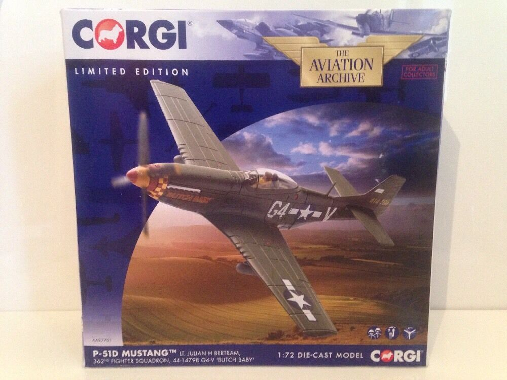 Corgi Aviation AA27701 P-51S Mustang Lt. Julian H Bertram 362nd Fighter Sq New