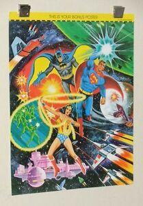 1970's DC Comics Superman Batman Wonder Woman 21 by 16 JLA poster pin-up 1: 1978