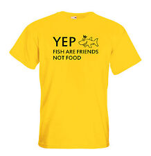 Juko Yep Fish Are Friends Not Food Funny T Shirt