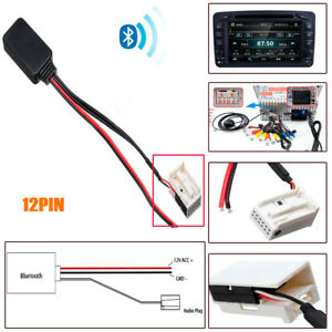 bluetooth aux adapter for mercedes w169 w245 w203 audio 20 50 aps comand ntg 2 ebay. Black Bedroom Furniture Sets. Home Design Ideas
