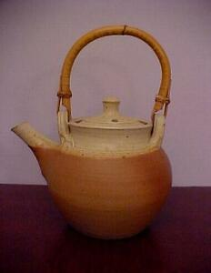 Studio-Pottery-WINCHCOMBE-Ball-Teapot-RAY-FINCH-MARK