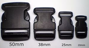 Side-Release-Buckle-2Pc-20mm-25mm-38mm-50mm-Available-Backpack-Tent-Repair