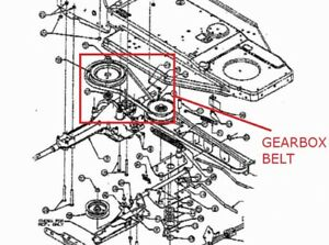 image is loading mtd-lawnflite-603-604-variable-speed-to-gearbox-