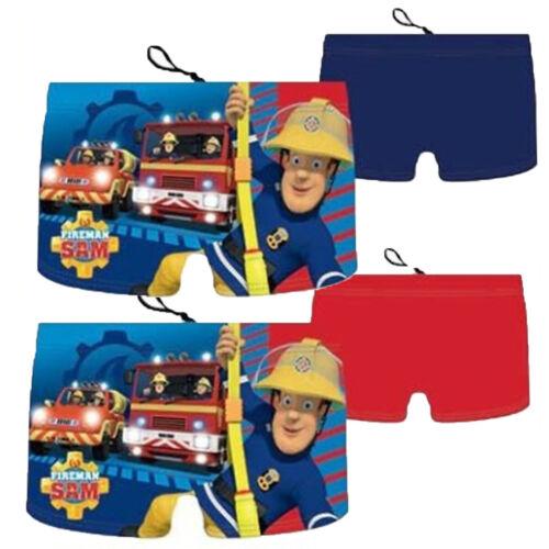 Garçons Enfants Fireman Sam natation Boxer Swim Trunk Shorts Âge 2-6 Ans