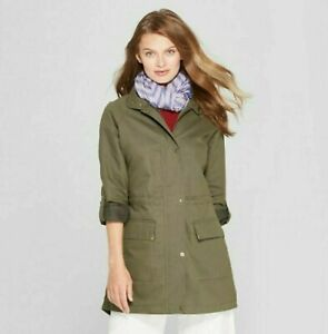 Women-039-s-Anorak-Jacket-A-New-Day-Olive-Green-NWT-Coat-Casual-Dress
