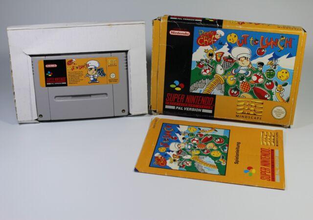 PIERRE LE CHEF IS OUT TO LUNCH für Super Nintendo - SNES Spiel Modul mit OVP
