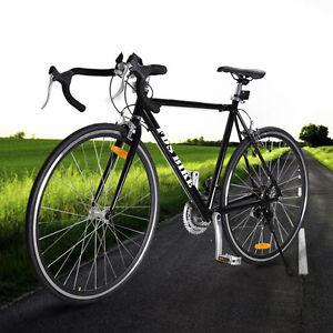Black Shimano 700c 54cm Aluminum Road Commuter Bike Racing Bicycle