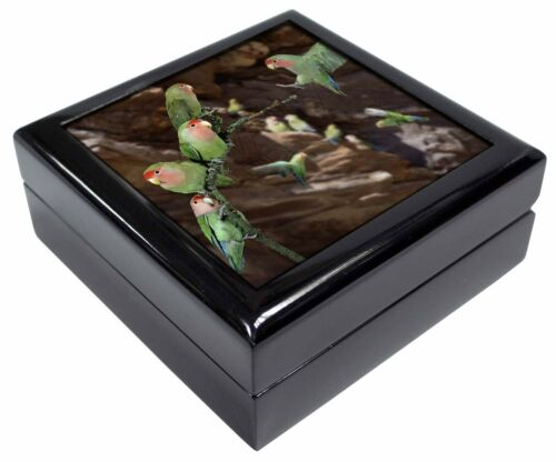 AB-55JB Lovebirds Pretty Love Birds Keepsake//Jewellery Box Christmas Gift