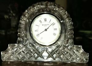 Image Is Loading Waterford Crystal Desk Clock