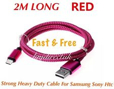 2 x 2M Samsung Galaxy S6 S7 Edge S3 S4 S5 Fast Charge Charging Lead Usb Cable