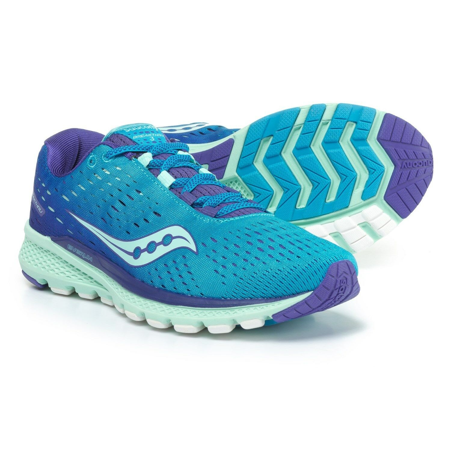 NIB WOMENS SAUCONY BREAKTHRU 3 blueE MINT S10358-1 RUNNING SHOES SIZE 6.5M K12