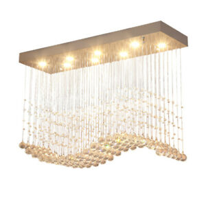 8 Moderno Lampadario Di Cristallo Luce Proiettorino Da Incasso Artistico Plafoniere Sala Da Pranzo Ebay