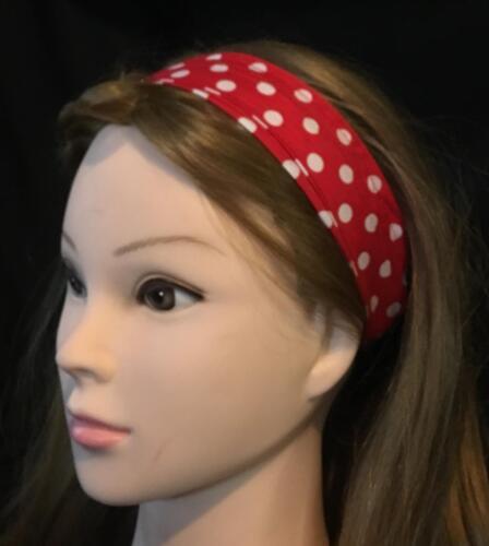 Polka Dot Wide Cotton Hair Head Band Biker Ladies Fashion Bandana feeanddave