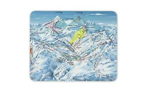 Tignes Piste Map Mouse Mat Pad France Ski Snowboard Fun Gift PC