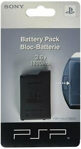 Rechargeable Battery for Sony PSP-110 PSP-1001 PSP 1000 Fat New 3.6V 1800mAh