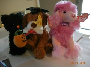 3 Ty Beanie Babies: Jinxed (BBOTM), Ooh-La-La, and Honor Roll (Mint Condition)