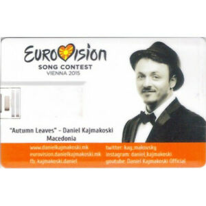 2021 Eurovision - Macedonia 2015. Autumn Leaves - Daniel Kajmakoski. (Promo USB)