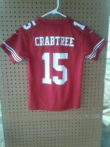 Details about NFL SAN FRANCISCO 49ERS Nike Boy Jersey #15 Crabtree, SZ SMALL