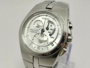 Men-039-s-Seiko-Arctura-7L22-0AA0-Kinetic-Chronograph-Wristwatch-42mm-Mint