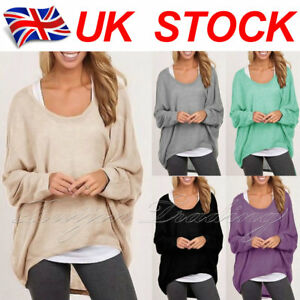 UK-Womens-Long-Sleeve-Sweatshirt-Ladies-Jumper-Dress-Pullover-Tops-Shirt-Blouse