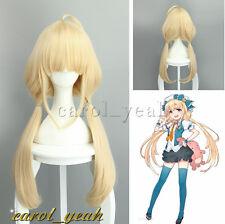 New IDOLM STER CINDERELLA GIRLS Anzu Futaba cream yellow Cosplay Wig Hair 384A