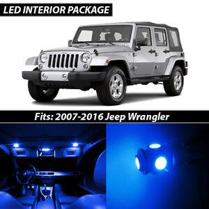 Details About 2007 2016 Jeep Wrangler Blue Interior Led Lights Package Kit