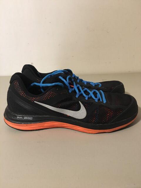 100% authentique 5e2d2 30cb0 Mens Nike Dual Fusion Run 3 Running Shoes Black Sz 12