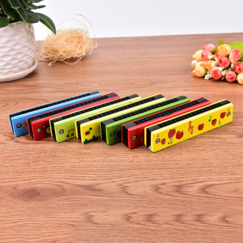 Educational Musical Wooden Harmonica Instrument Toy for Kids Gift Random colo NP