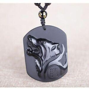 mode-wolf-kopf-anhaenger-schwarze-obsidian-halskette-carven-maenner-schmuck