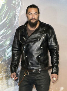 Jason Momoa Aquaman Premiere Leather Jacket Men Biker New Look Jacket Ebay