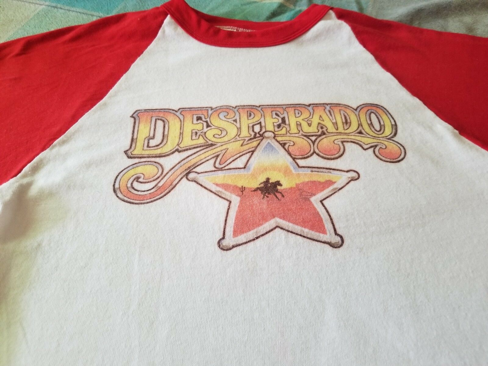 DESPERADO E.T. THE EXTRA TERRESTIAL VINTAGE 1982 BASEBALL STYLE SHIRT  MEDIUM