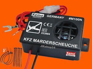 KEMO-M100N-KFZ-MARDER-ABWEHR-MARDERSCHUTZ-MARDERSCHRECK-12-V-DC-ULTRASCHALL-NEU