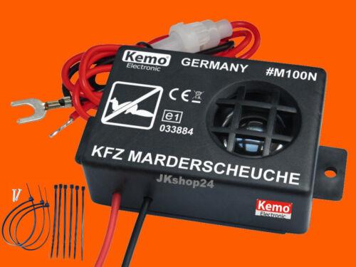 Kemo m100n Marder-defensas nuevo ✅ marderschutz marderschreck KFZ 12 V//dc ultrasonidos