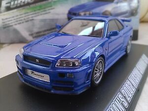 Fast and Furious Brian's 2002 Nissan Skyline GT-R Diecast 1/43 ...