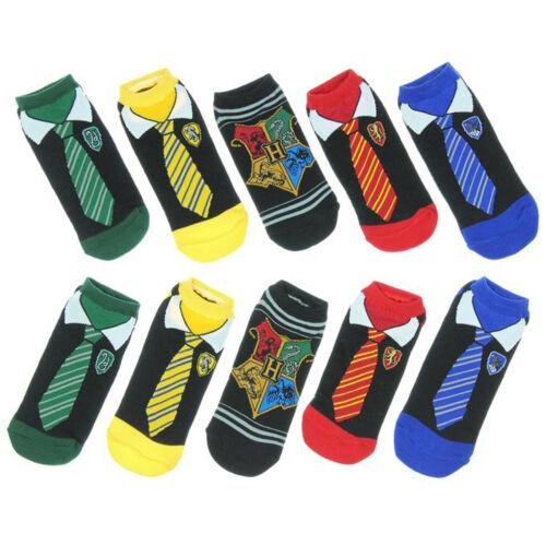 Harry Potter Socken Damen Herren Weich Kurzsocken Gryffindor Ravenclaw Slytherin