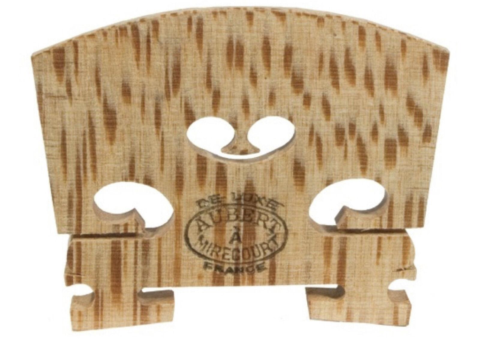 41mm - 4/4 Aubert mirecourt DELUXE aged maple uncut violin bridge made in France