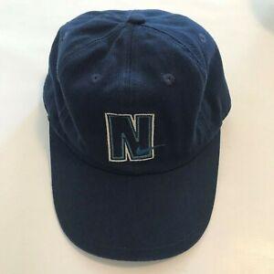 57ace31ed Nike Snapback Baseball Hat Cap White Blue N Swoosh Logo Vintage ...