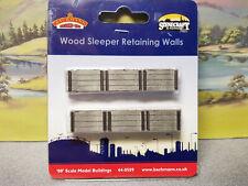 Bachmann 44-0509 OO Gauge Wood Sleeper Retaining Walls